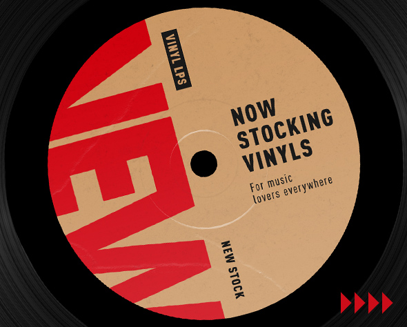 NEW Now Stocking Vinyl Music. For music lovers everywhere.