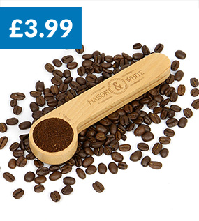 2 in 1 Wooden Coffee Clip and Spoon