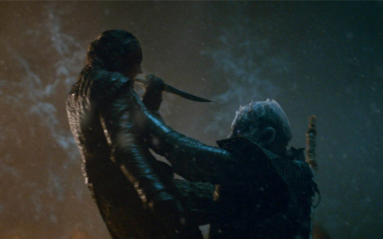 Arya and the Night King