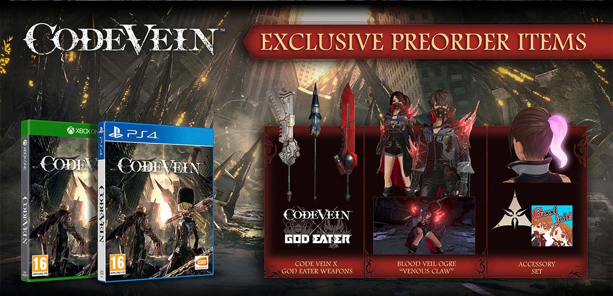 Code Vein game exclusive pre-order items