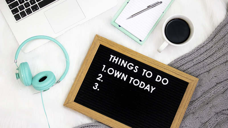 2. Make a To-Do list on busy days.