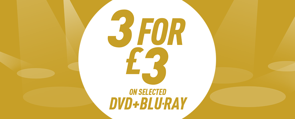 3 for £3 on Selected DVD & Blu-ray