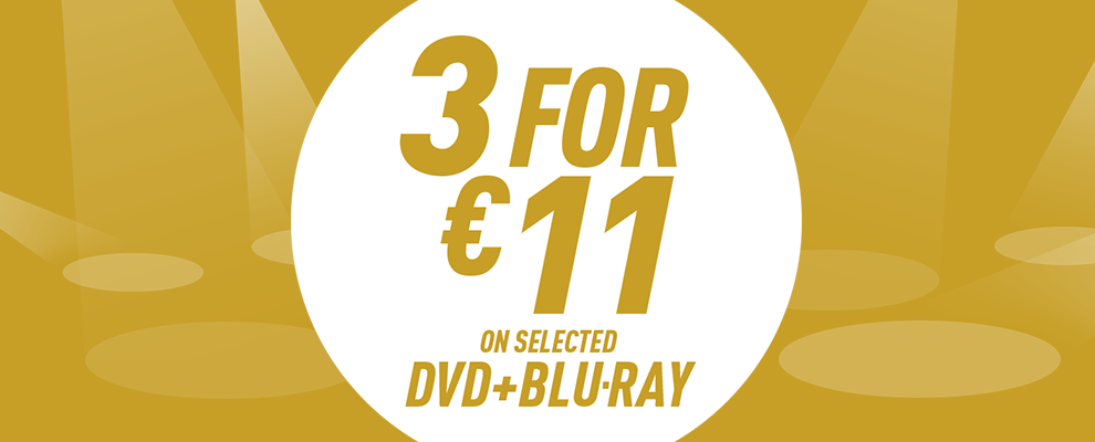 3 for €11 on Selected DVD & Blu-ray
