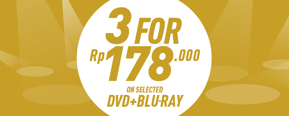 3 for Rp178.000 on Selected DVD & Blu-ray