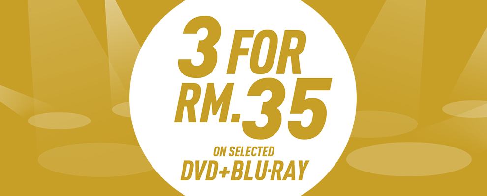 3 for RM35 on Selected DVD & Blu-ray