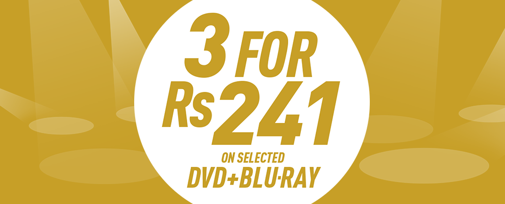 3 for Rs 241 on Selected DVD & Blu-ray