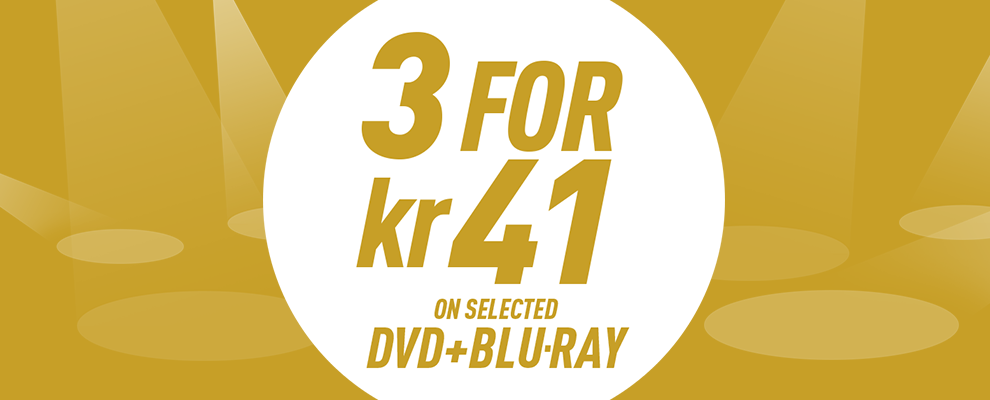 3 for kr 41 on Selected DVD & Blu-ray