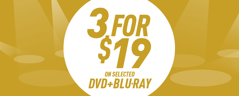 3 for $19 on Selected DVD & Blu-ray