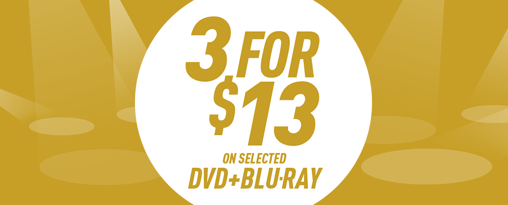 3 for $13 on Selected DVD & Blu-ray