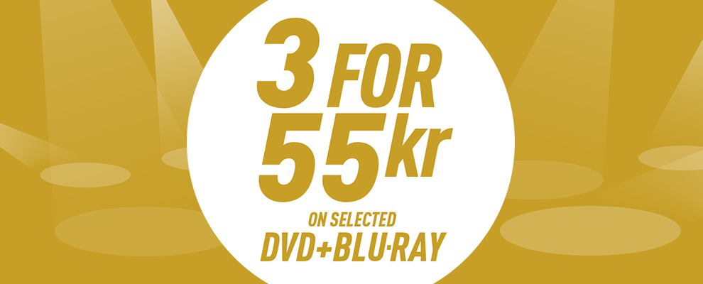 3 for 55 kr on Selected DVD & Blu-ray