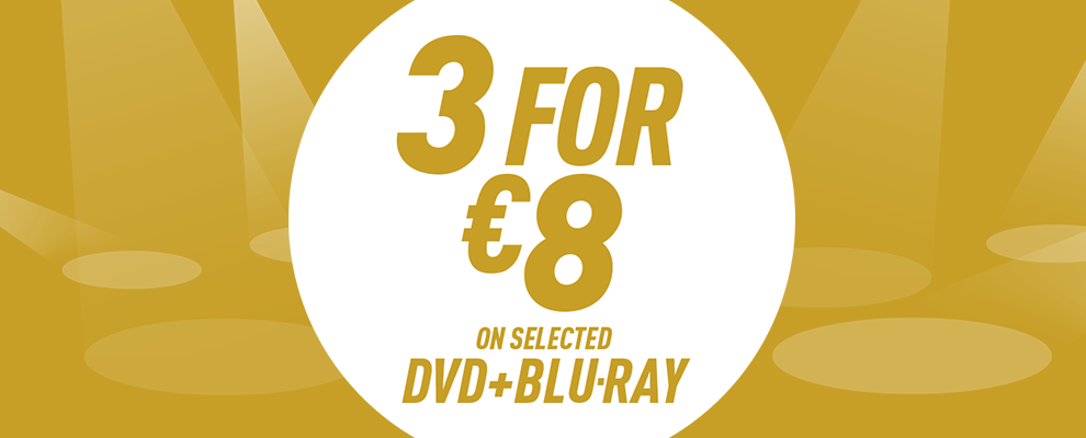 3 for €8 on Selected DVD & Blu-ray