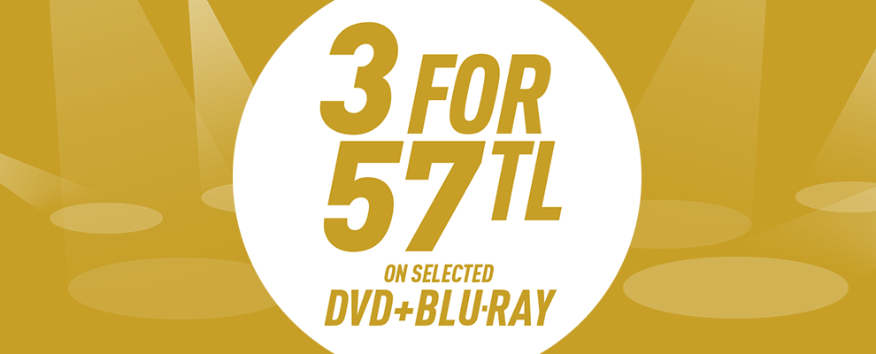 3 for 57 TL on Selected DVD & Blu-ray
