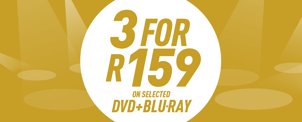 3 for R159 on Selected DVD & Blu-ray