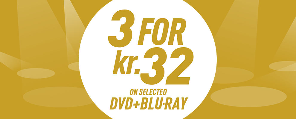 3 for kr. 32 on Selected DVD & Blu-ray