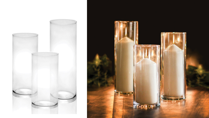 Glass Candle Cylinders