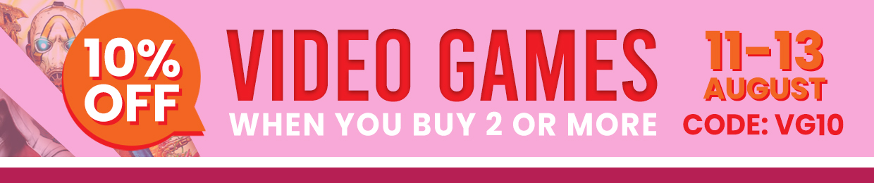 10% OFF VIDEO GAMES WHEN YOU BUY 2 OR MORE