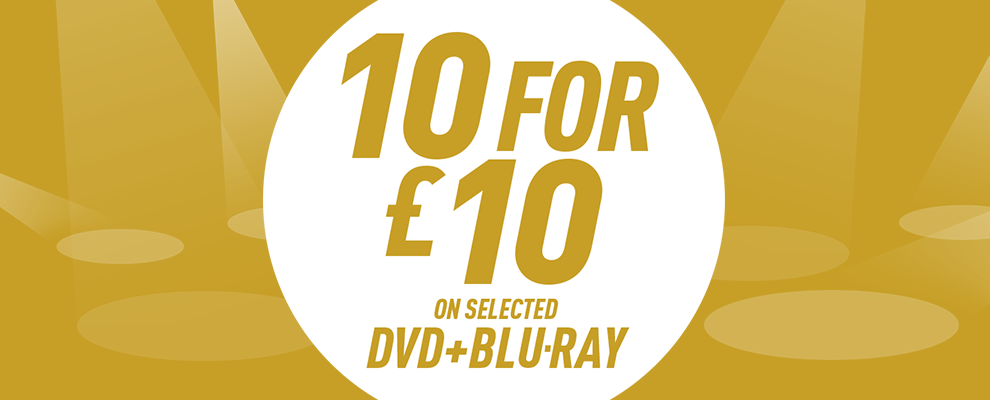 10 for £10 on Selected DVD & Blu-ray