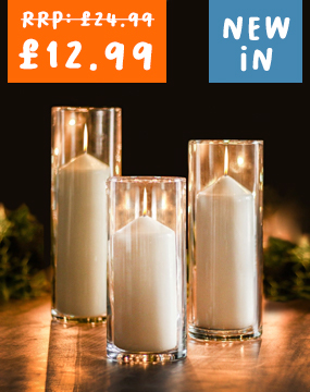 3 Glass Candle Cylinders