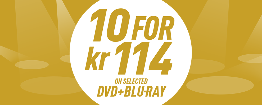 10 for kr 114 on Selected DVD & Blu-ray