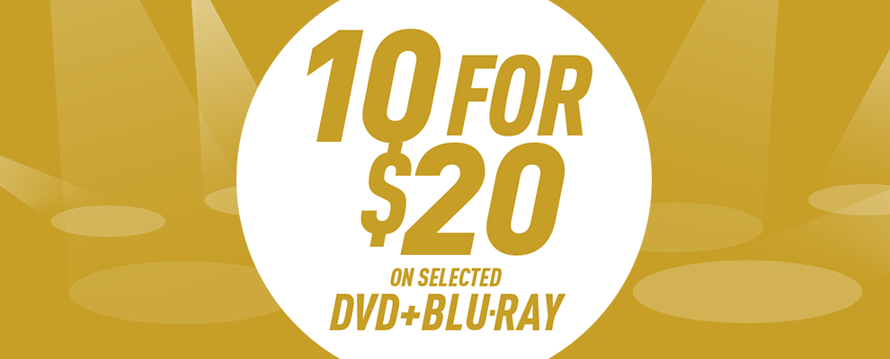 10 for $20 on Selected DVD & Blu-ray