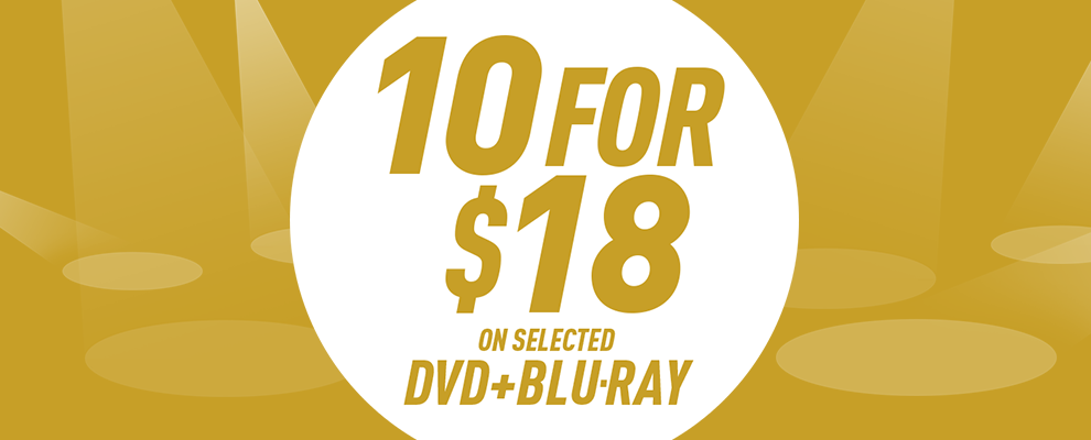 10 for $18 on Selected DVD & Blu-ray