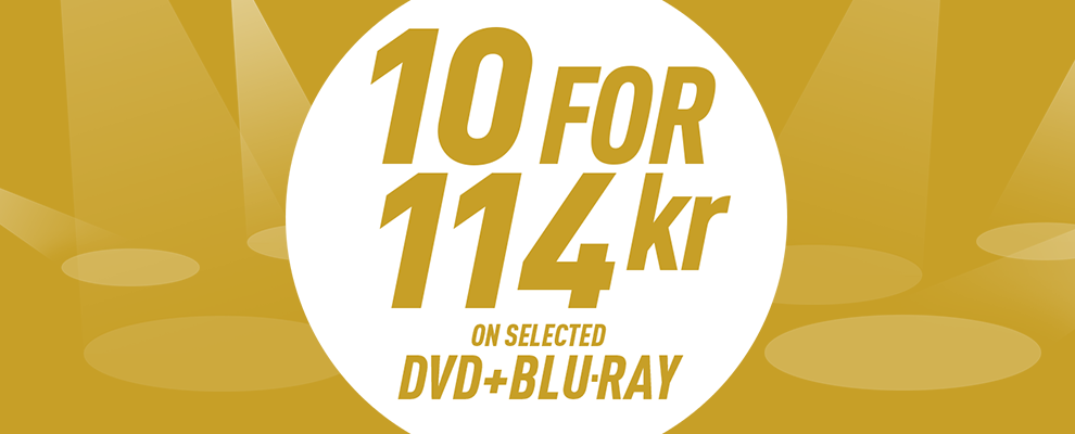 10 for 114 kr on Selected DVD & Blu-ray