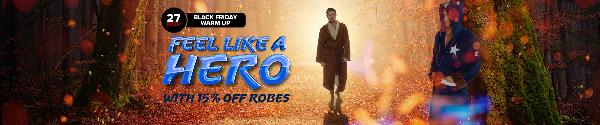 15% off Robes