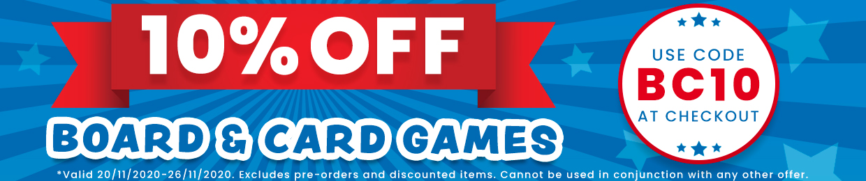 10% OFF BOARD AND CARD GAMES