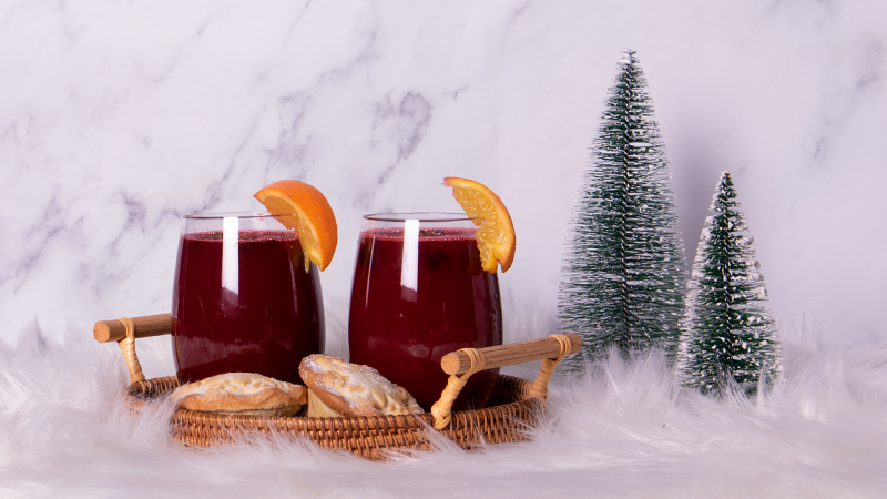 Pomegranate and Vermouth Mulled Wine