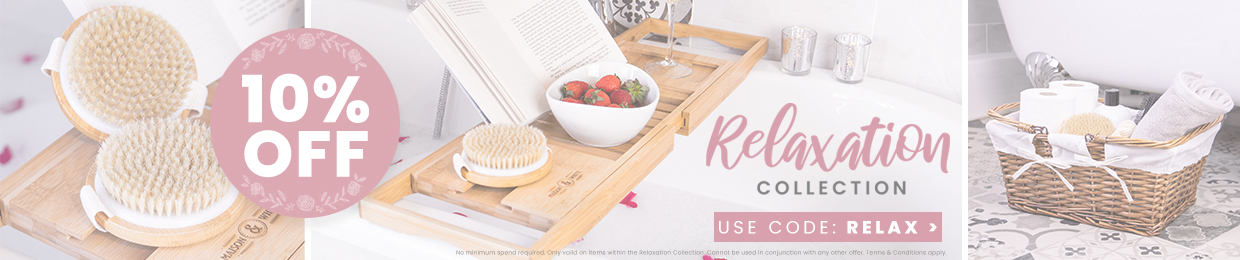 We've brought together a collection of products that will help you relax at home. From Oil Burners to Wine Glasses, the relaxation collection has everything you will need for that well deserved 'Me Time'. Plus get 10% OFF when you use the code 'RELAX' at checkout, only eligible on products inside this store and excludes discounted items.