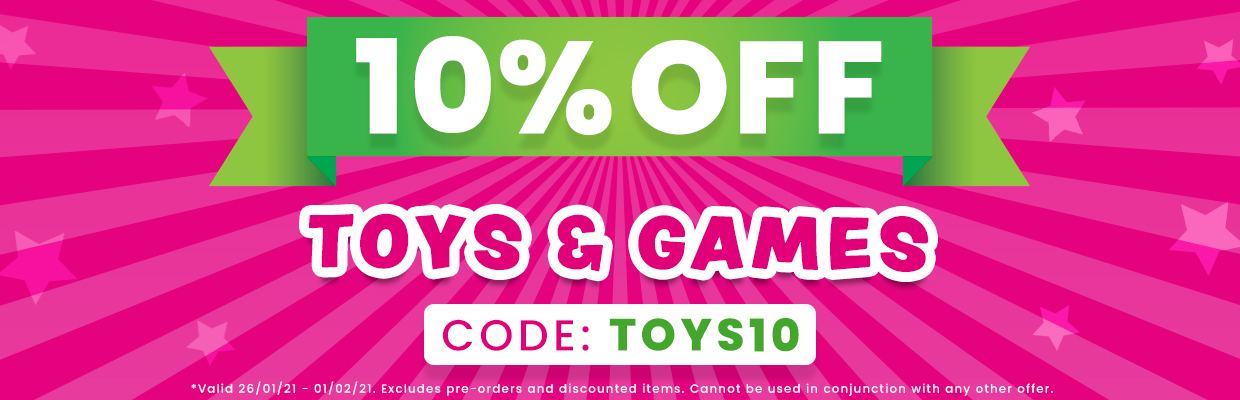 10% OFF TOYS AND GAMES