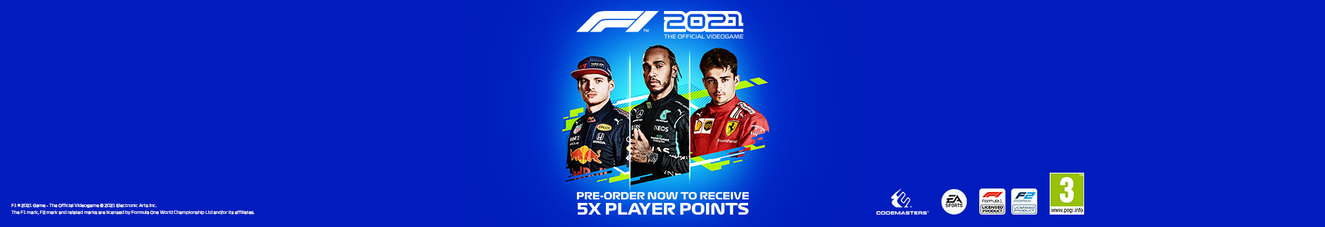Get 5x Player Points with your F1 2021 pre-order!