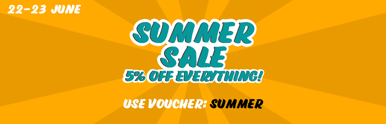 5% off EVERYTHING Summer Sale