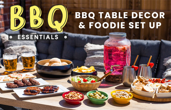 BBQ Table Decor and Foodie Set Up
