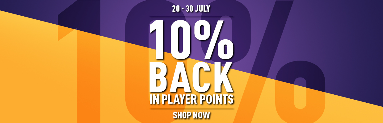 10% Back In Player Points