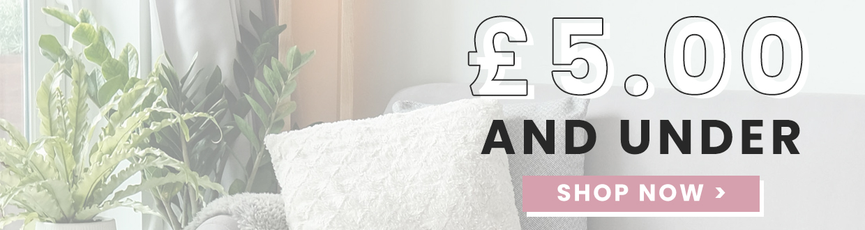 Get an absolute bargain and take a look at these products that are £5 or less from the brands M&W and Pukkr for all things homeware you could need in your home!