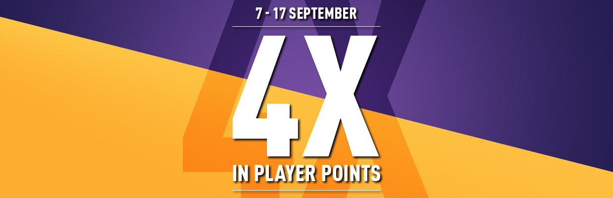 4X Player Point with Every Purchase